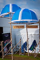 Entrance of the Finnish Exhibition with Väiski in Front of it. Photo: André Jörg/ Scouterna