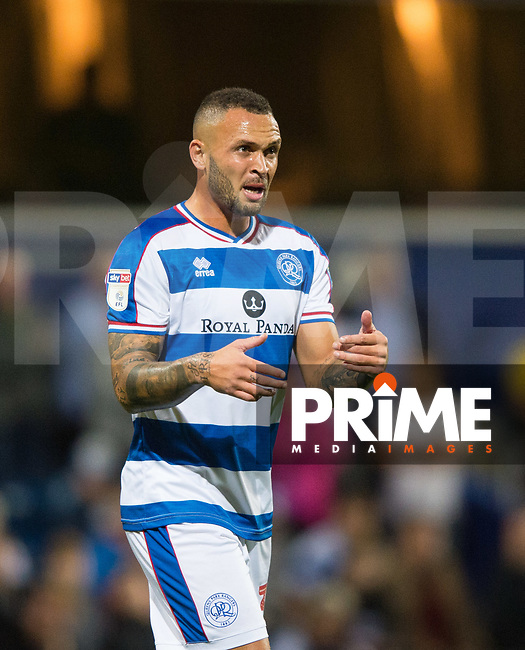 QPR Joel Lynch during the Sky Bet Championship match between Queens Park Rangers and Millwall at Loftus Road Stadium, London, England on 19 September 2018. Photo by Andrew Aleksiejczuk / PRiME Media Images.