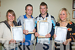 RESULTS: The students of Gaeilchola?iste, Chaiari? who are pleased with their Leaving Cert results on Wednesday l-r: Theresa Roche, Ardfert, Shane O'Brien, Srand Road, Stephen McCarthy, Oalpark and Meghan O'Brien, Camp.   Copyright Kerry's Eye 2008