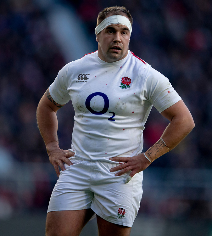 England's Ben Moon<br /> <br /> Photographer Bob Bradford/CameraSport<br /> <br /> Guinness Six Nations Championship - England v France - Sunday 10th February 2019 - Twickenham Stadium - London<br /> <br /> World Copyright &copy; 2019 CameraSport. All rights reserved. 43 Linden Ave. Countesthorpe. Leicester. England. LE8 5PG - Tel: +44 (0) 116 277 4147 - admin@camerasport.com - www.camerasport.com