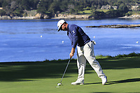 Chez Reavie (USA) taps in on the 5th green during Sunday's Final Round of the 2018 AT&amp;T Pebble Beach Pro-Am, held on Pebble Beach Golf Course, Monterey,  California, USA. 11th February 2018.<br /> Picture: Eoin Clarke | Golffile<br /> <br /> <br /> All photos usage must carry mandatory copyright credit (&copy; Golffile | Eoin Clarke)