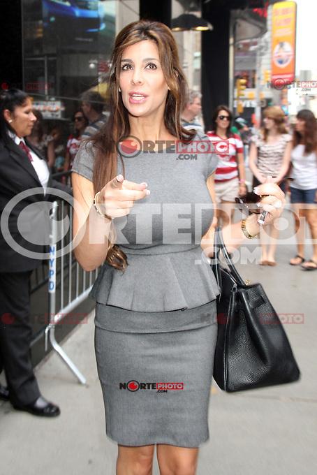 NEW YORK CITY, NY - August 07, 2012: Siggy Flicker at Good Afternoon America in New York City. &copy; RW/MediaPunch Inc. /NortePhoto.com<br /> <br /> **SOLO*VENTA*EN*MEXICO**<br /> **CREDITO*OBLIGATORIO** <br /> *No*Venta*A*Terceros*<br /> *No*Sale*So*third*<br /> *** No Se Permite Hacer Archivo**<br /> *No*Sale*So*third*