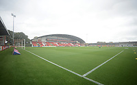 A general view of Higbury Stadum, home of Fleetwood Town<br /> <br /> Photographer Kevin Barnes/CameraSport<br /> <br /> The EFL Sky Bet Championship - Fleetwood Town v AFC Wimbledon - Saturday 10th August 2019 - Highbury Stadium - Fleetwood<br /> <br /> World Copyright © 2019 CameraSport. All rights reserved. 43 Linden Ave. Countesthorpe. Leicester. England. LE8 5PG - Tel: +44 (0) 116 277 4147 - admin@camerasport.com - www.camerasport.com
