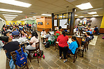 Students flock to the Ole Miss Student Union to check out the dining options including Chick-fil-A, Panda Express, Qdoba, Which Wich and McAlister's Deli. Photo by Robert Jordan/Ole Miss Communications