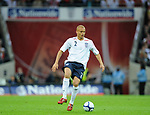 Wes Brown of England during the Friendly International match at Wembley Stadium, London. Picture date 28th May 2008. Picture credit should read: Simon Bellis/Sportimage