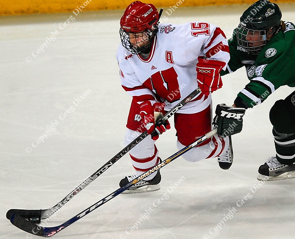 Wisconsin's Sarah Bauer scores the winning point as the Badgers top Bemidji State 2-0 Friday at the Kohl Center