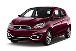 2017 Mitsubishi Space-Star Instyle 5 Door Hatchback Angular Front stock photos of front three quarter view