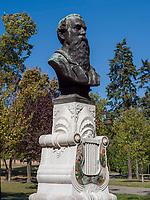 B&uuml;ste, Festung Kalemegdan, Belgrad, Serbien, Europa<br /> bust  in the fortress Kalemegdan,  Belgrade, Serbia, Europe