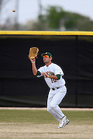 March 17, 2010:  Outfielder Nic Obey (10) of North Dakota State University Bison vs. Long Island University at Lake Myrtle Park in Auburndale, FL.  Photo By Mike Janes/Four Seam Images