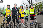 l-r  Margaret McGinley, Joanne Crowley, Hazel Reid, Loretta O'Connor and Kirsty McTrusty. at the Fenit Lifeboat charity fun cycle from O'Donnells, Mounthawk on Saturday