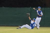 17 August 2010: Andy Pitcher of Team France catches the ball during the Czech Republic 4-3 win over France, at the 2010 European Championship, under 21, in Brno, Czech Republic.