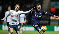 Preston North End's Alan Browne looks on as Derby County's Richard Keogh clears<br /> <br /> Photographer Andrew Kearns/CameraSport<br /> <br /> The EFL Sky Bet Championship - Preston North End v Derby County - Friday 1st February 2019 - Deepdale Stadium - Preston<br /> <br /> World Copyright © 2019 CameraSport. All rights reserved. 43 Linden Ave. Countesthorpe. Leicester. England. LE8 5PG - Tel: +44 (0) 116 277 4147 - admin@camerasport.com - www.camerasport.com