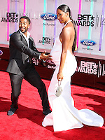 LOS ANGELES, CA, USA - JUNE 29: Omarion and Apryl Jones arrive at the 2014 BET Awards held at Nokia Theatre L.A. Live on June 29, 2014 in Los Angeles, California, United States. (Photo by Xavier Collin/Celebrity Monitor)