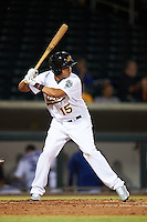 Mesa Solar Sox Yairo Munoz (15), of the Oakland Athletics organization, during a game against the Peoria Javelinas on October 15, 2016 at Sloan Park in Mesa, Arizona.  Peoria defeated Mesa 12-2.  (Mike Janes/Four Seam Images)