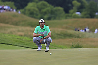 Jamie Lovemark (USA) on the 8th green during Saturday's Round 3 of the 117th U.S. Open Championship 2017 held at Erin Hills, Erin, Wisconsin, USA. 17th June 2017.<br /> Picture: Eoin Clarke | Golffile<br /> <br /> <br /> All photos usage must carry mandatory copyright credit (&copy; Golffile | Eoin Clarke)