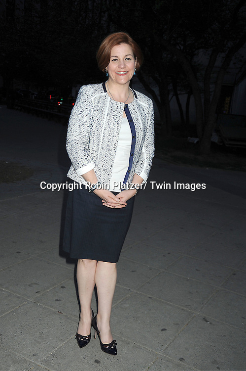 Christine Quinn  arrives at The Vanity Fair Tribeca Film Festival Party at The State Supreme Courthouse at 60 Centre Street on April 17, 2012 in New York City.