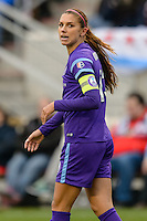 Bridgeview, IL, USA - Sunday, May 1, 2016: Orlando Pride forward Alex Morgan (13) during a regular season National Women's Soccer League match between the Chicago Red Stars and the Orlando Pride at Toyota Park. Chicago won 1-0.