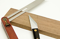 Knife used for marking wood with sliding Bevel