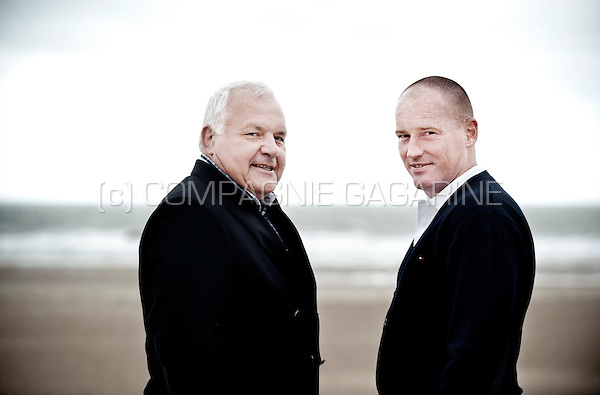 LDD politician Jean-Marie Dedecker and KV Oostende football coach Frederik Vanderbiest (Belgium, 17/06/2014)