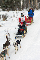 Bryan Mills w/Iditarider on Trail 2005 Iditarod Ceremonial Start near Campbell Airstrip Alaska SC