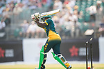 Somila Seyibokwe of South Africa is bowled out during Day 1 of Hong Kong Cricket World Sixes 2017 Group A match between South Africa vs Pakistan at Kowloon Cricket Club on 28 October 2017, in Hong Kong, China. Photo by Yu Chun Christopher Wong / Power Sport Images