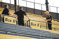 July 31, 2009; Hamilton, ON, CAN; Hamilton Tiger-Cats owner Bob Young. CFL football: BC Lions vs. Hamilton Tiger-Cats at Ivor Wynne Stadium. The Tiger-Cats defeated the Lions 30-18. Mandatory Credit: Ron Scheffler. Copyright (c) 2009 Ron Scheffler.