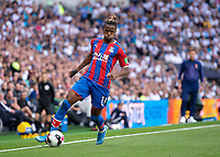 Wilfried Zaha of Crystal Palace in action during the Premier League match between Tottenham Hotspur and Crystal Palace at Wembley Stadium, London, England on 14 September 2019. Photo by Vince  Mignott / PRiME Media Images.