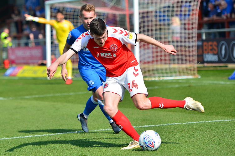 Fleetwood Town's Ashley Nadesan in action<br /> <br /> Photographer Richard Martin-Roberts/CameraSport<br /> <br /> The EFL Sky Bet League One - Fleetwood Town v Peterborough United - Friday 19th April 2019 - Highbury Stadium - Fleetwood<br /> <br /> World Copyright © 2019 CameraSport. All rights reserved. 43 Linden Ave. Countesthorpe. Leicester. England. LE8 5PG - Tel: +44 (0) 116 277 4147 - admin@camerasport.com - www.camerasport.com