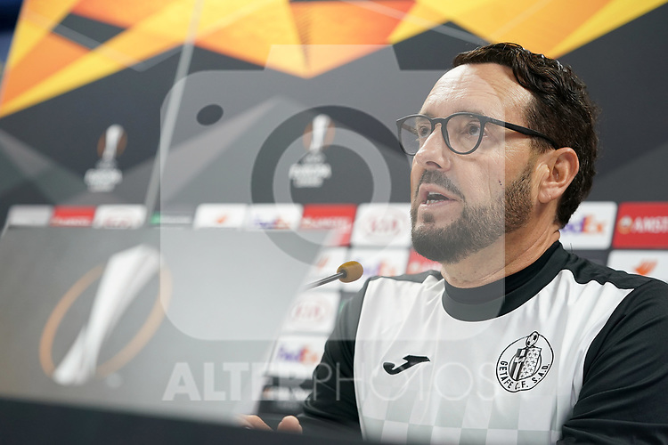 Getafe CF's coach Jose Bordalas in press conference after training session. October 23,2019.(ALTERPHOTOS/Acero)
