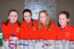 Erica O'Shea, Isabelle Corridon, Mairead Joy and Rebecca Murphy Holy Cross NS exercising their brains at the Credit Union quiz in the Malton Hotel Killarney on Sunday