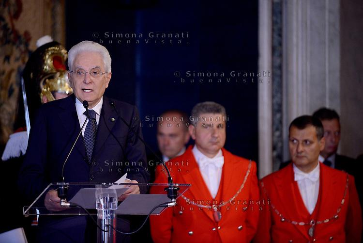 Roma,10 Giugno 2017<br /> Papa Francesco in visita al Quirinale