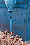 Blue silk lantern, Hoi An, Viet Nam