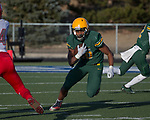Bishop Manogue Miners Peyton Dixon (10) runs against the Arbor View Aggies in the second half of their NIAA 4A State Semi-Final football game played at McQueen High School on Saturday, Nov. 24,2018.