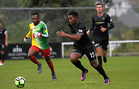 Team Wellington's Roy Kayara during the 2018 OFC Champions League Quarterfinal between Team Wellington and Lae City Dwellers FC at David Farrington Park in Wellington, New Zealand on Saturday, 7 April 2018. Photo: Dave Lintott / lintottphoto.co.nz