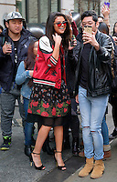 www.acepixs.com<br /> <br /> February 8 2017, New York City<br /> <br /> Singer Selena Gomez chatted with fans as she left a downtown hotel on February 8 2017 in New York City<br /> <br /> By Line: Curtis Means/ACE Pictures<br /> <br /> <br /> ACE Pictures Inc<br /> Tel: 6467670430<br /> Email: info@acepixs.com<br /> www.acepixs.com