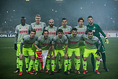 7th December 2017, Rajko Mitic Stadium, Belgrade, Serbia, UEFA Europa League football, Red Star Belgrade versus FC Cologne; FC Koeln's team line-up before the match