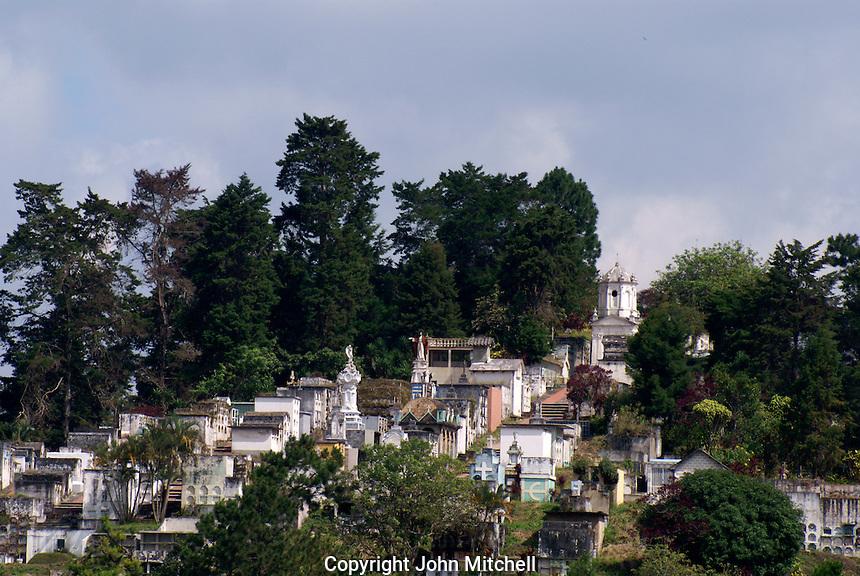 Hilltop cemetery in Santa Rosa de Copan, Honduras.