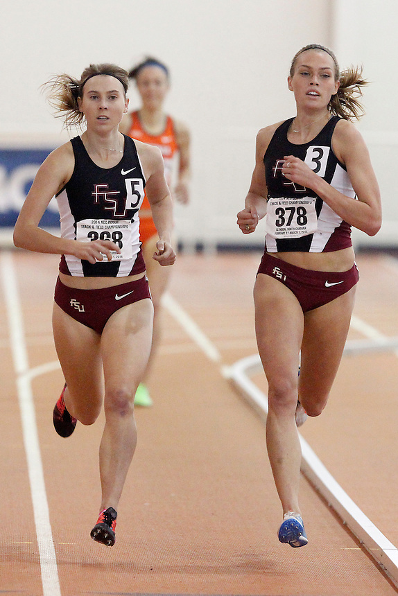 Florida State's Colleen Quigley (378) Florida State's Linden Hall (368)