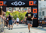 Participants run during the Bloomberg Square Mile Relay race across Pier 27 at the James R. Herman Cruise Terminal on 3 August 2017 in San Francisco, United States. Photo by Alex Quesada / Power Sport Images
