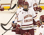 Austin Cangelosi (BC - 26) - The Boston College Eagles defeated the visiting University of New Brunswick Varsity Reds 6-4 in an exhibition game on Saturday, October 4, 2014, at Kelley Rink in Conte Forum in Chestnut Hill, Massachusetts.