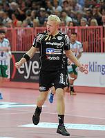 Handball 1. Bundesliga  2012/2013  in der Paul Horn Arena Tuebingen 15.09.2012 TV Neuhausen - Frisch Auf Goeppingen JUBEL Andreas Schroeder (TV Neuhausen)