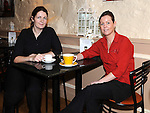 Laura Cromwell and Jackie McDermott enjoy a cup of coffee after a busy day in the gateway restaurant who took part in the small Business Saturday campaign. Photo: Colin Bell/pressphotos.ie
