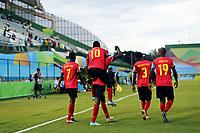29th October 2019; Bezerrao Stadium, Brasilia, Distrito Federal, Brazil; FIFA U-17 World Cup Brazil 2019, Angola versus Canada; Players of Angola celebrates goal of the Zini in the 29th minute, 1-0 - Editorial Use