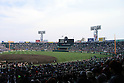 Hanshin Koshien Stadium, MARCH 31, 2016 - Baseball : A general view inside of Koshien Stadium after the 88th National High School Baseball Invitational Tournament final game between Takamatsu Shogyo 1-2 Chiben Gakuen in Hyogo, Japan. (Photo by Katsuro Okazawa/AFLO)