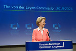 Brussels - Belgium, September 10, 2019 -- Press conference by President-elect Ursula von der LEYEN on the unveiling of the new College of Commissioners 2019-2024, at the Berlaymont - HQ of the EC -- Photo: © HorstWagner.eu