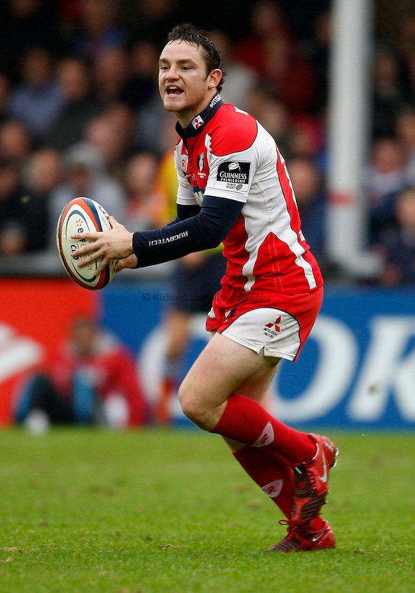 Photo: Richard Lane/Richard Lane Photography. Gloucester Rugby v London Wasps. Anglo Welsh EDF Energy Cup. 04/10/2008. Gloucester's Ryan Lamb.