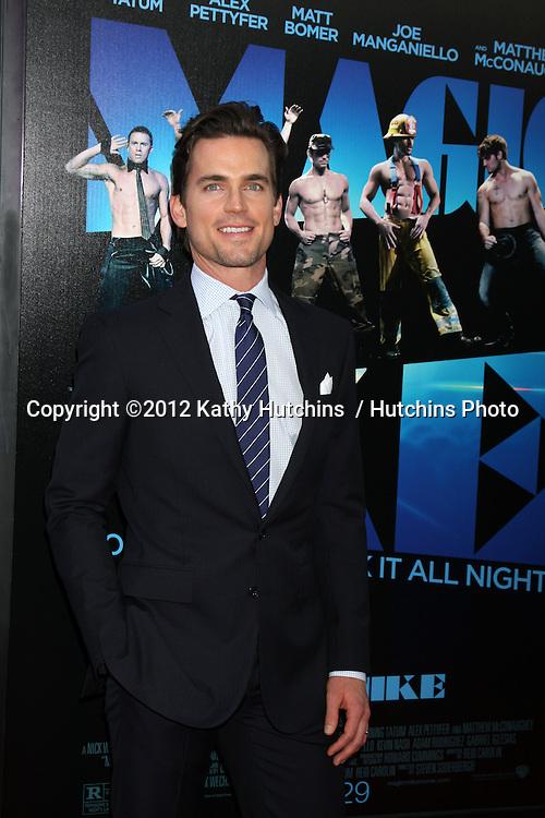 "LOS ANGELES - JUN 24:  Matt Bomer arrives at the ""Magic Mike"" LAFF Premiere at Regal Cinema at LA Live on June 24, 2012 in Los Angeles, CA"