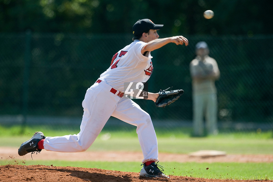 BASEBALL - EUROPEAN UNDER -21 CHAMPIONSHIP - PAMPELUNE (ESP) - 03 TO 07/09/2008 - PHOTO : CHRISTOPHE ELISE.BELGIUM VS SLOVAKIA (WINNER 9-8) - KENNY VAN D BRANDEN (BELGIUM)