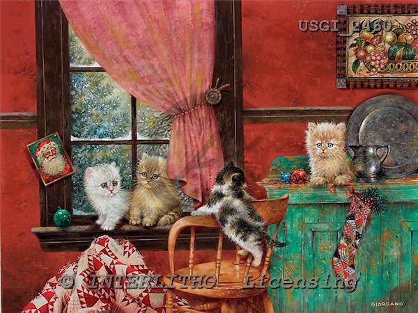 GIORDANO, CHRISTMAS ANIMALS, WEIHNACHTEN TIERE, NAVIDAD ANIMALES, paintings+++++,USGI2460,#XA#