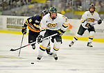 15 February 2008: University of Vermont Catamounts' forward Jack Downing, a Freshman from New Canaan, CT, in action against the Merrimack College Warriors at Gutterson Fieldhouse in Burlington, Vermont. The Catamounts defeated the Warriors 4-1 in the first game of their 2-game weekend series...Mandatory Photo Credit: Ed Wolfstein Photo